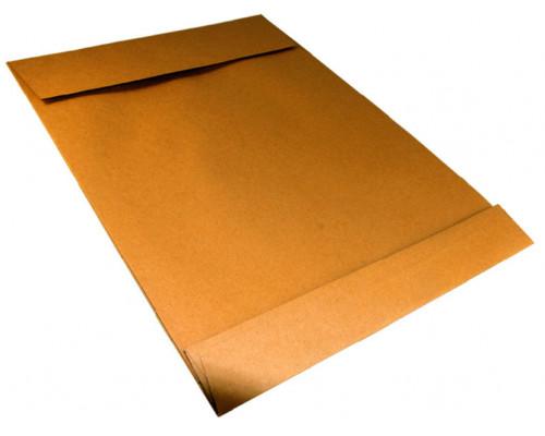Конверт B4 с отрывной лентой коричневый с расширением