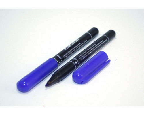 Маркер перманентный Centropen (2846) синий 1 мм