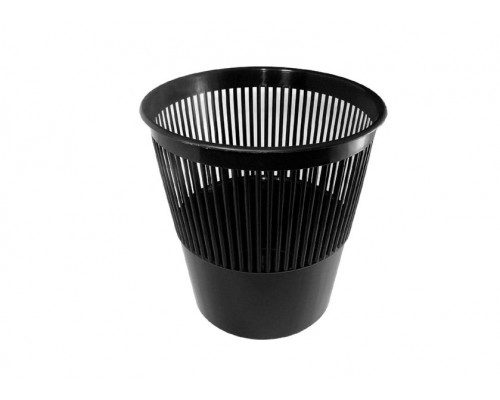 Корзина для бумаг Стамм 9 л пластиковая черная