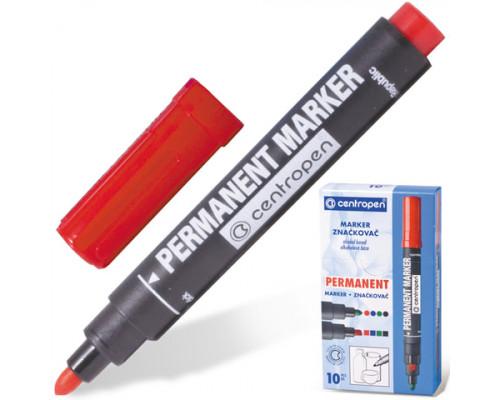 Маркер перманентный Centropen (8566) красный 2,5 мм
