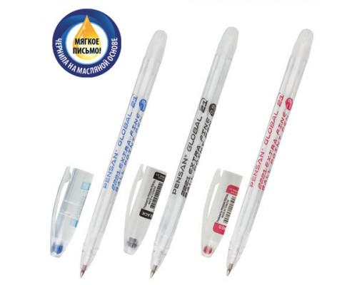 Ручка шариковая Pensan Global-21 синяя 0,5мм
