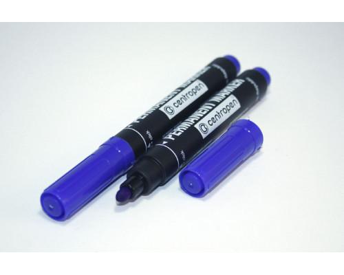 Маркер перманентный Centropen (8566) синий 2,5 мм