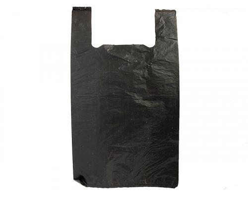 Пакет Майка Чёрный (30 х 54 см.)  100 шт