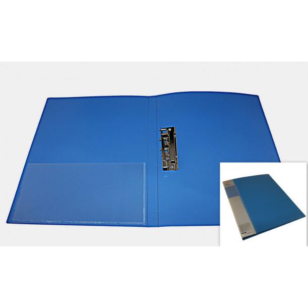 Папка с зажимом и карманом Berlingo А4 синяя