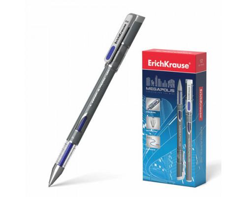 Ручка гелевая Erich Krause Megapolis синяя (129)