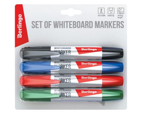 Набор маркеры для досок Berlingo 4 шт.