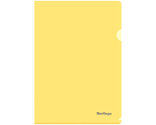 Папка-уголок Berlingo А4 плотный желтый