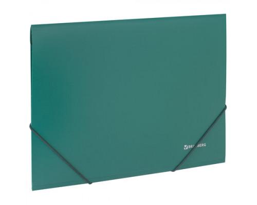 Папка с резинкой A4 зеленая