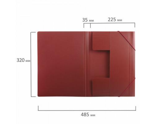 Папка с резинкой A4 красная