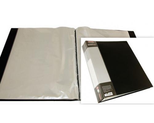 Папка на 100 файлов Berlingo А4 черная