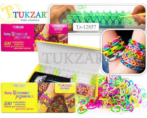 Набор цветных резиночек Tukzar для детского творчества bands, 500 резиночек
