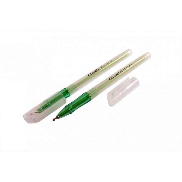 Ручка шариковая Piano Best зеленая,1,0мм