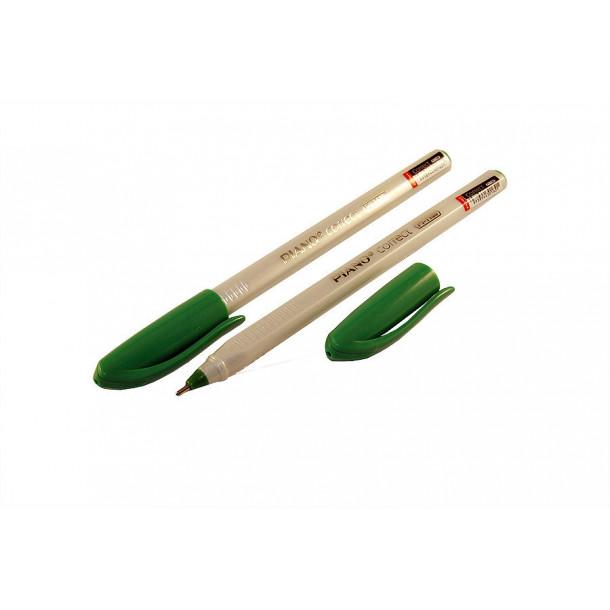 Ручка шариковая Piano Correct зеленая (126) ,0.25 мм