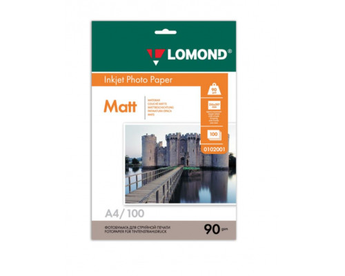 Фотобумага матовая Lomond A4 (090 г/м) 100 л.