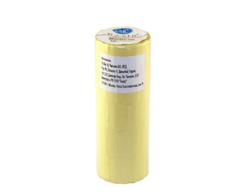 Ценник цветной 25x15 мм волнистый 5 рулонов