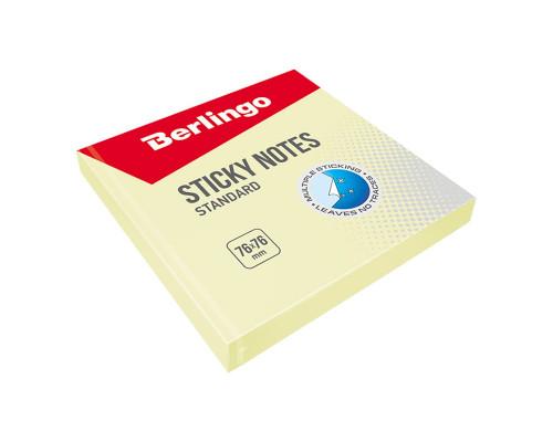 Стикер Berlingo 076х076 мм. (100 л.) желтый