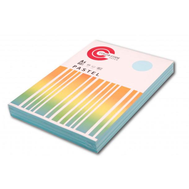 Бумага цветная A4 (080 г/м) 250 л.ColorCode (голубой)