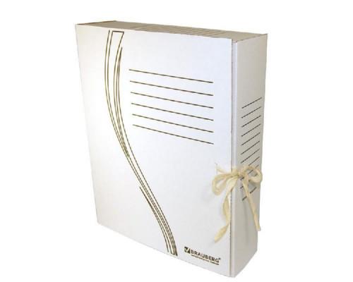 Папка-бокс на завязках  Brauberg А4 075 мм. картонная