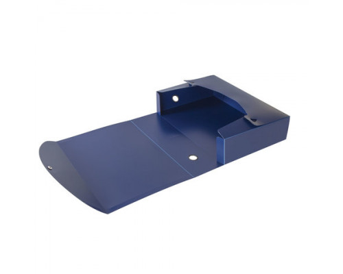 Папка-бокс с кнопкой Brauberg А4 (700 мм.) синяя