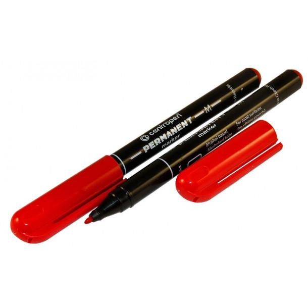 Маркер перманентный Centropen (2846) красный 1 мм