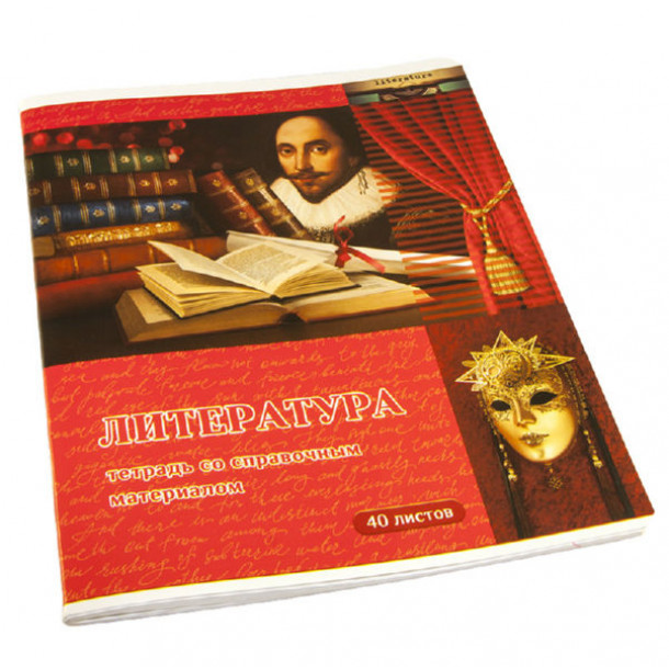 Тетрадь А5 040 л. клетка  Страна знаний-литература
