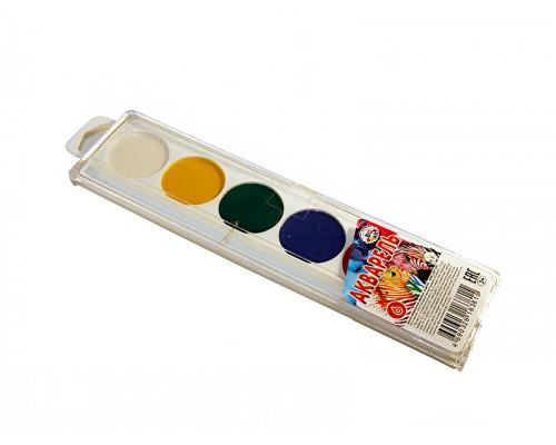 Акварель медовая БиДжи Color Animal 6 цветов пластмассовая упаковка