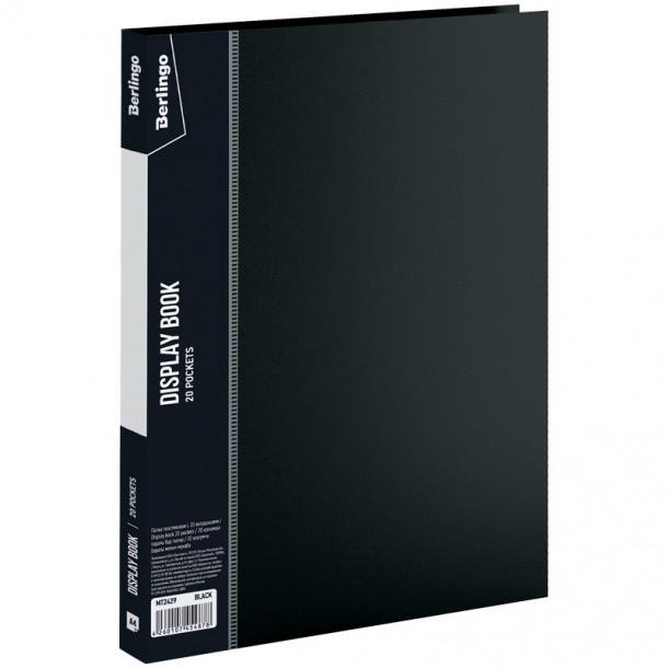 Папка на 020 файлов  Berlingo А4 черная