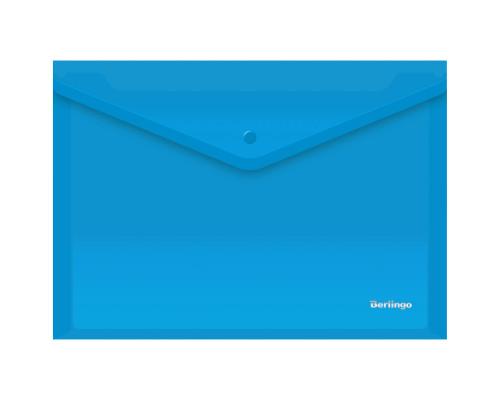 Папка-конверт с кнопкой Berlingo A4 синяя