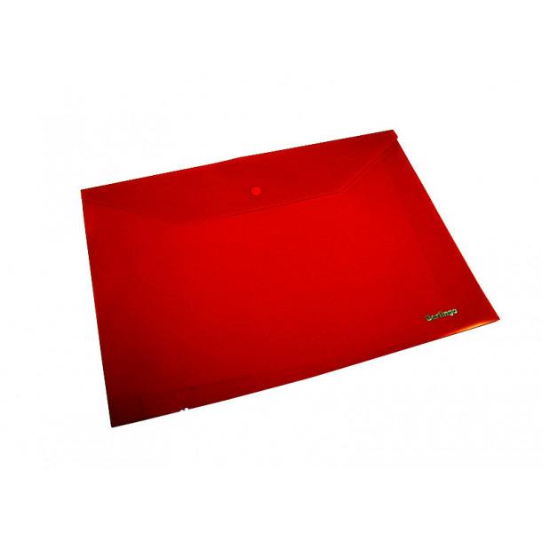 Папка-конверт с кнопкой Berlingo A4 красная