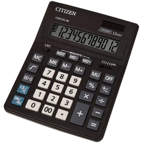 Калькулятор 12-разрядный Citizen CDB-1201BK