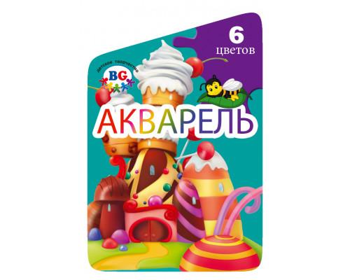 Акварель Медовая БиДжи Карамельный домик 06 цветов пластмассовая упаковка