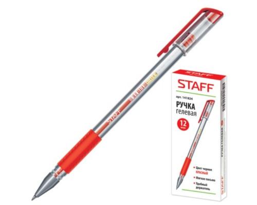 Ручка гелевая Staff красная