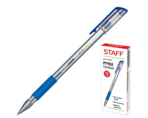 Ручка гелевая Staff синяя
