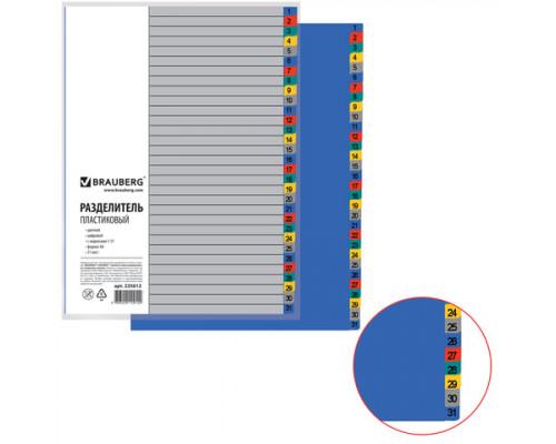 Разделитель пластиковый А4 (1-31)