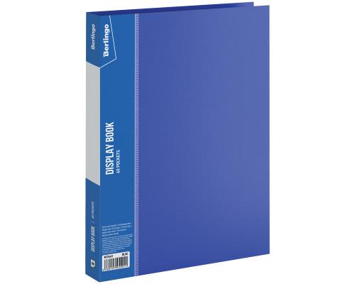 Папка на 060 файлов Berlingo А4 синяя