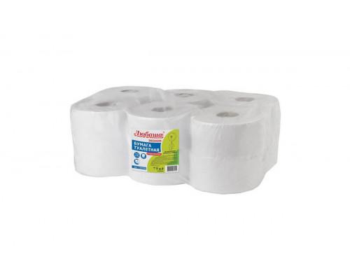 Любаша бумага туалетная 1сл., белая, 200 м ,12 рул Т2
