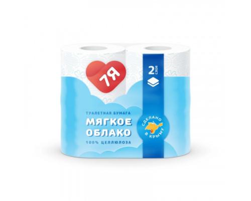7Я бумага туалетная 2-х сл. (4 шт) 16 м Стандарт белая