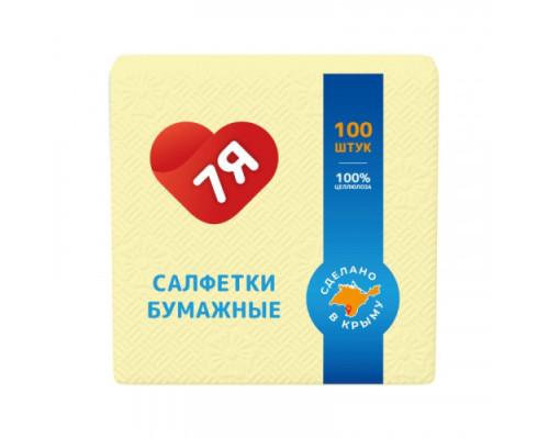 7Я салфетка бумажная 100 шт. Желтая