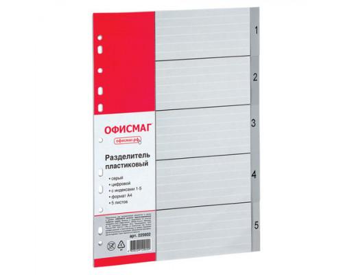 Разделитель пластиковый А4 (1-05)