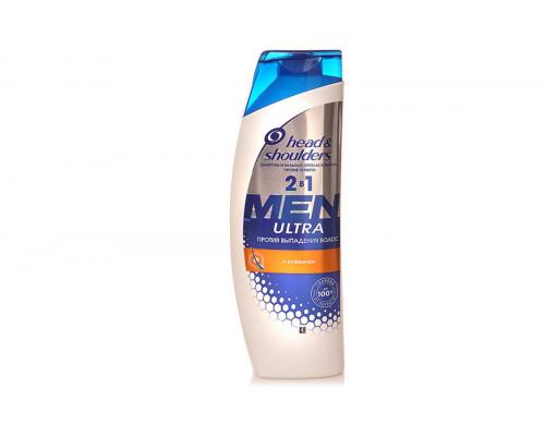 Head & Shoulders Шампунь 400 мл. Men 2 в 1 Против выпадения волос д/него (с кофеином)