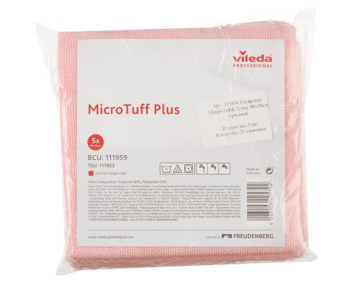Vileda Салфетка из микроволокна для любых поверхностей MicroTuff Plus красная