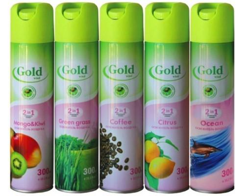 Gold wind освежитель воздуха 300 мл Зеленая трава