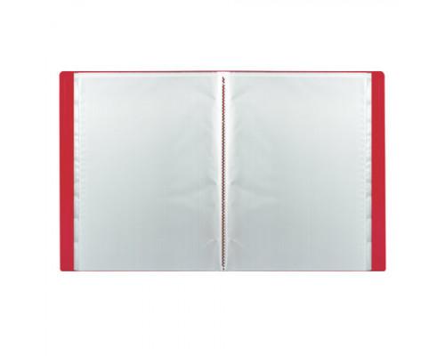 Папка на 100 файлов Staff А4 красная