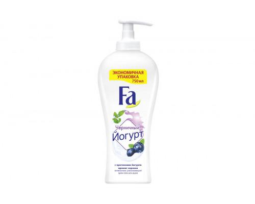 FA гель-крем для душа Йогурт Черничный 750 мл с дозатором