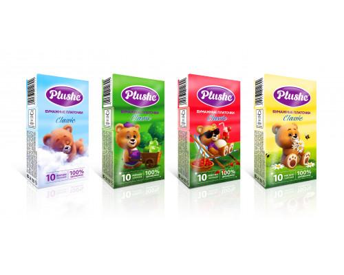 Plushe платочки бумажные 2 сл (10 шт.) Classic