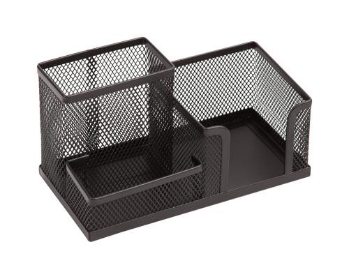 Подставка-органайзер Berlingo Steel&Style, металлическая, 3 секции, черная