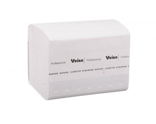 Veiro Professional салфетки бумажные, V-сл, 2-слойные, 21*16см., белые, 220шт.