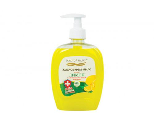 Золотой идеал жидкое крем-мыло Лимон антибактериальное 500 мл. с дозатором