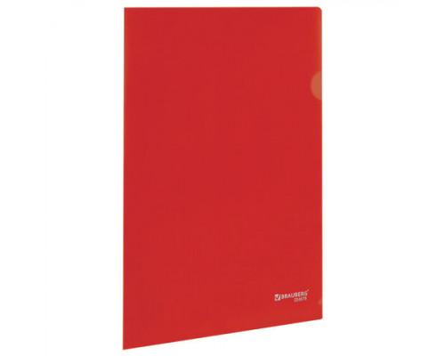 Папка-уголок Brauberg А4 красная