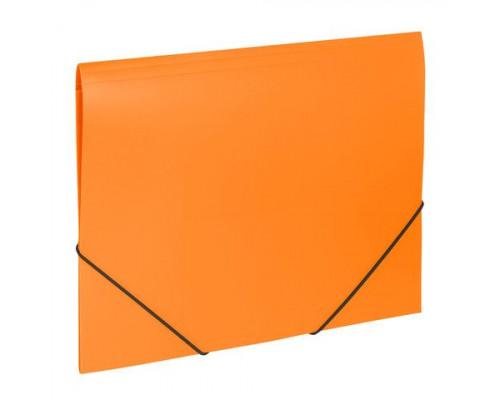 Папка с резинкой A4 оранжевая
